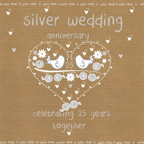 silver wedding anniversary card images silver wedding anniversary card karenza paperie