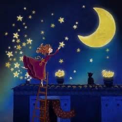Art illustrations good night starry night moon stars moon stars