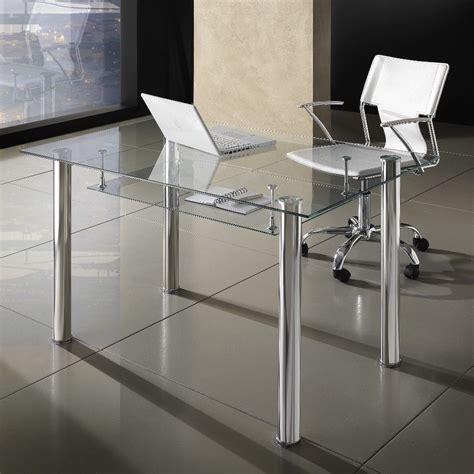 scrivania moderna scrivania moderna roland per ufficio in vetro 120 x 70 cm