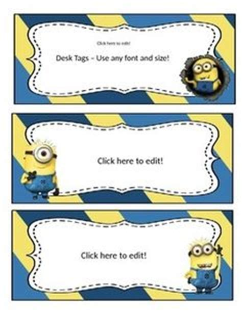 free editable name tags minions minions pinterest minion mayhem free editable name tags educational