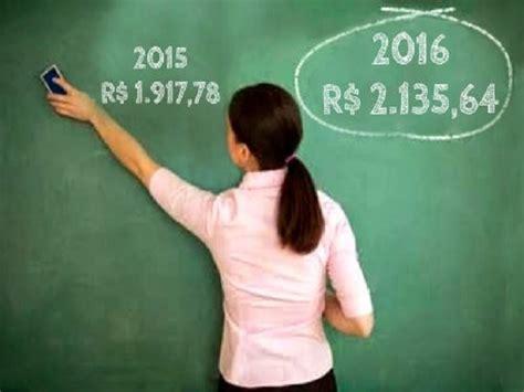 quando tera o dissidio em 2016 piso salarial dos professores ter 225 reajuste de 11 36 em 2016