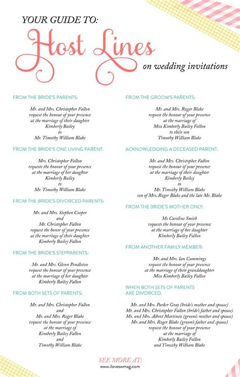 wedding invitation wording exles hosting a complete guide to host lines on wedding invitations