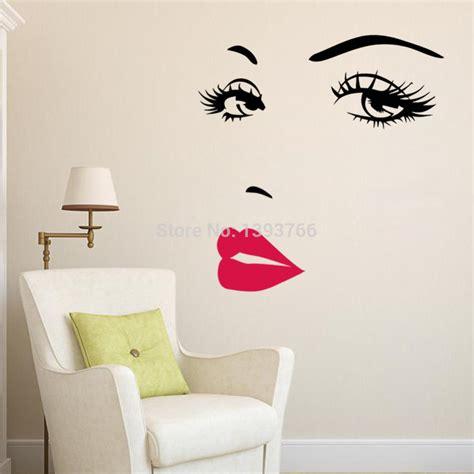 Diy Beautiful Face Eyes And Lips Wall Art Sticker 8469 Room Sticker