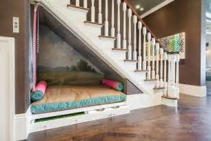 Under Stairs under the stairs dog bed contemporary entrance foyer