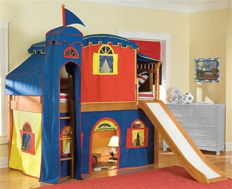 Castle Bunk Bed With Slide Interesting Maxtrix King S Castle Bunk Bed With Slide For Atzine