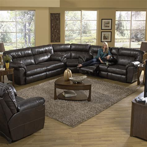 catnapper sectional reclining sectional sofa with right console by catnapper