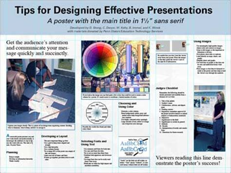 poster layout tips poster session tips