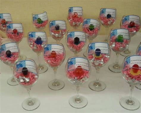 Easy inexpensive bridal shower favors! Large wine glasses
