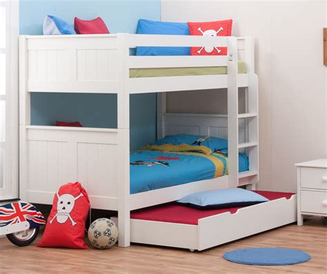 Trundle Bunk Beds For Children Stompa Classic Bunk Beds With Trundle Rainbow Wood