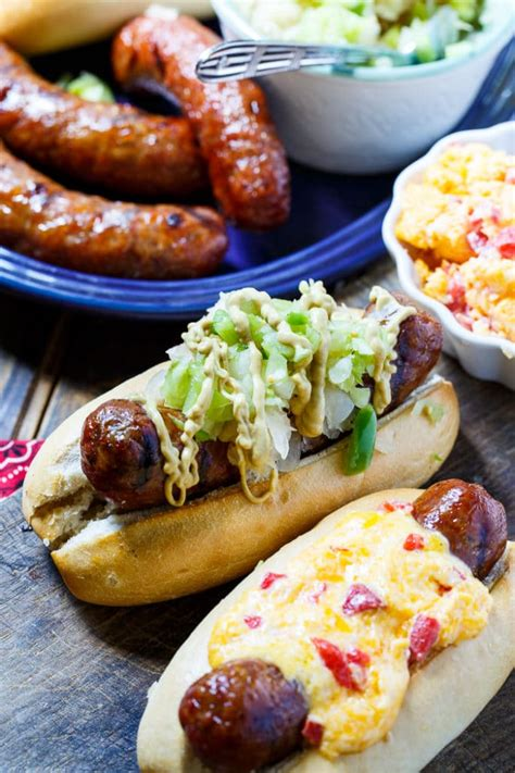 bratwurst toppings grilled brats with southern toppings spicy southern kitchen
