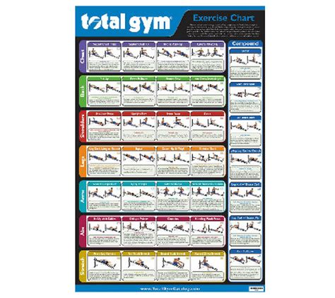 total wall chart with 35 exercises page 1 qvc