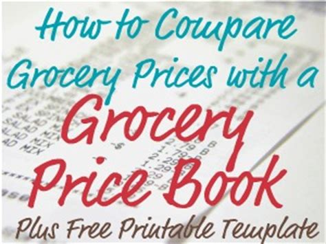 free printable price book template grocery price book use it to compare grocery prices in