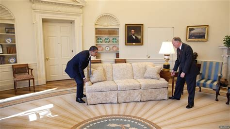 Oval Office Redecoration | bbc news in pictures oval office redecoration