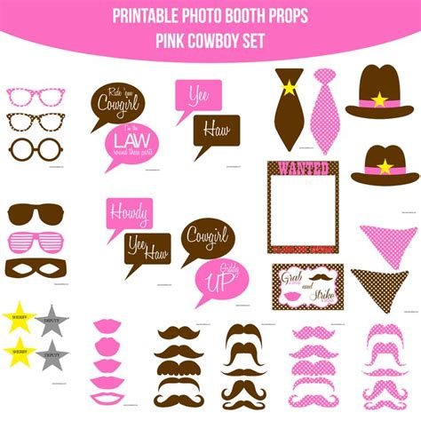 farm photo booth props diy instant download by 38 best cowboy party images on pinterest printable photo