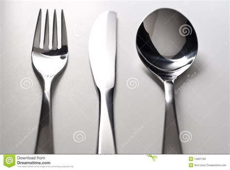 Kitchen Sink Clip Art - fork knife and spoon silverware royalty free stock images image 14901199