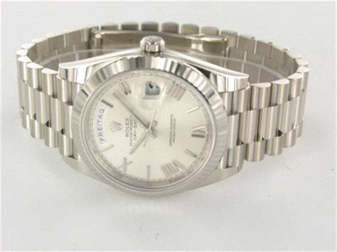Rolex Band Polieren by Rolex Day Date 40 Wei 223 Gold Automatik Pr 228 Sident Armband