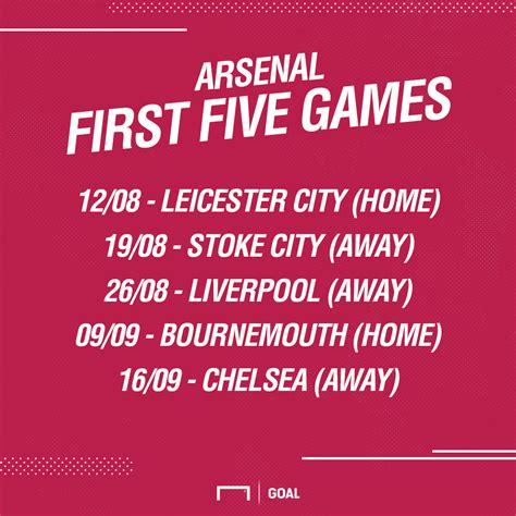 arsenal home fixtures revealed english premier league 2017 2018 fixtures