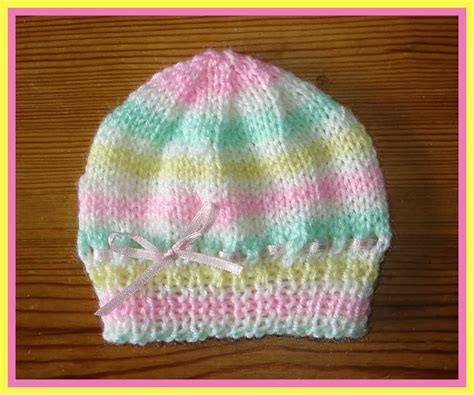 knit baby hats marianna s lazy days candystripe knitted baby hats