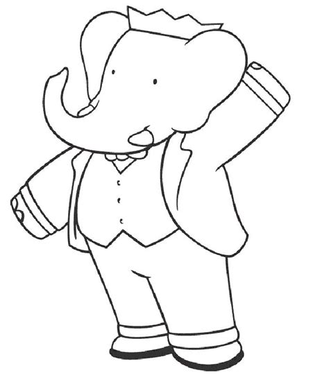 coloring pages babar picture 1