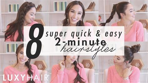 easy hairstyles for school in 5 minutes dailymotion 8 easy hairstyles 2 minute looks for work or school luxy hair