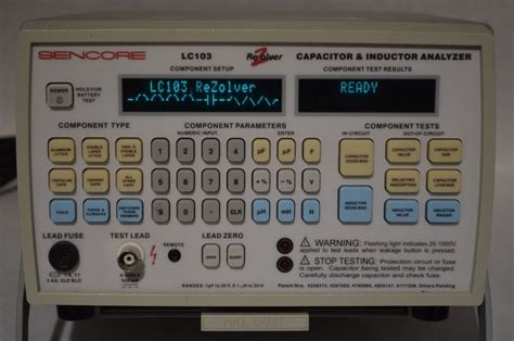 lc103 capacitor tester sencore lc103 lcr rezolver capacitor inductor analyzer w 110v pa251 power supply ebay