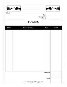 garage receipt template this towing receipt can be used by a towing company or