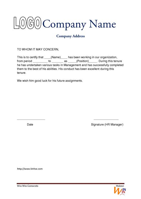 Work Experience Letter Application Template Experience Letter Template Image 2 Free Sle Templates