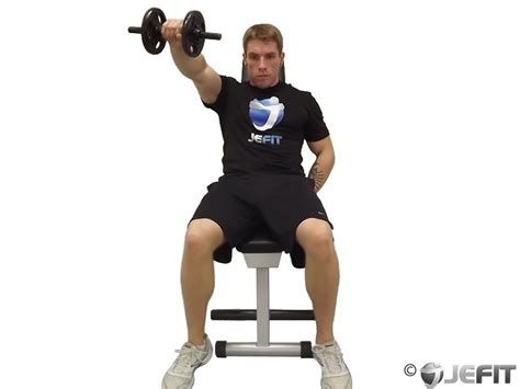 incline bench front raise dumbbell one arm front raise on incline bench exercise