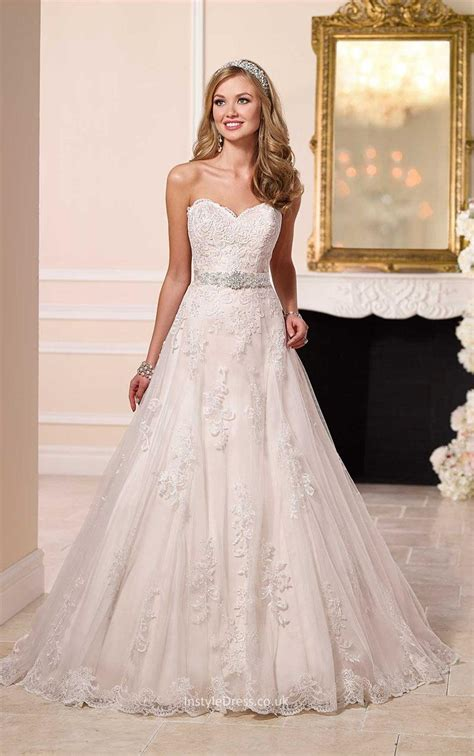 A Line Wedding Dresses by Strapless Sweetheart Lace Princess A Line Wedding Dress