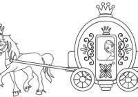 carrozza in inglese cenerentola nella carrozza disegno da colorare