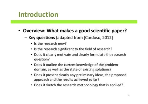 What Makes A Scientific Paper - how to write scientific papers a comprehensive guide