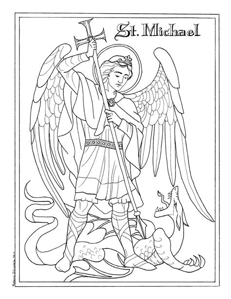 coloring pages for adults michaels michaelmas feast of st michael the archangel