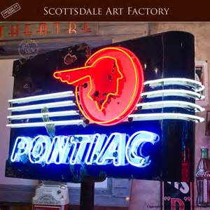 Vintage Pontiac Signs Pontiac Neon Dealership Vintage Sign Chief Headdress