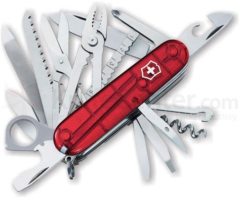 Swiss Army Knife 11 Tools 3011 30 victorinox swiss army swissch multi tool translucent ruby 3 58 quot closed knifecenter 53506