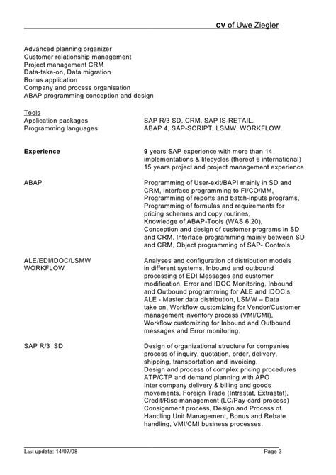 sap fico resume sample sap bi resume sample