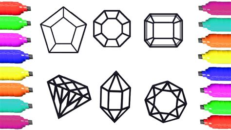 printable coloring pages gemstones coloring pages unique colorful gems drawing and