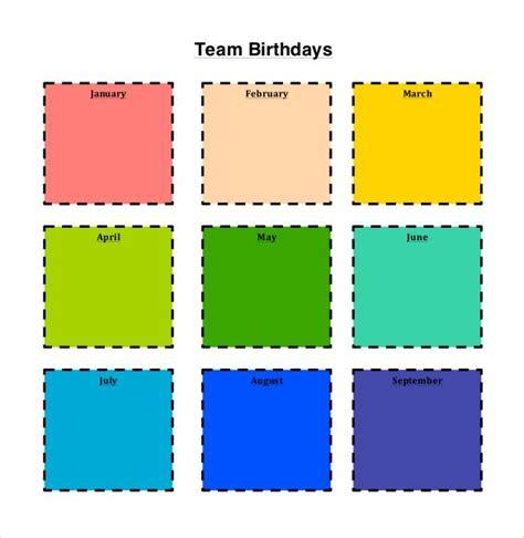 43 Birthday Calendar Templates Psd Pdf Excel Free Premium Templates Team Calendar Template