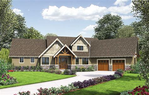 craftsman house plans with pictures rugged craftsman with angled garage 69594am architectural designs house plans