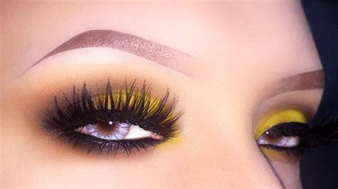 smokey yellow brown makeup tutorial