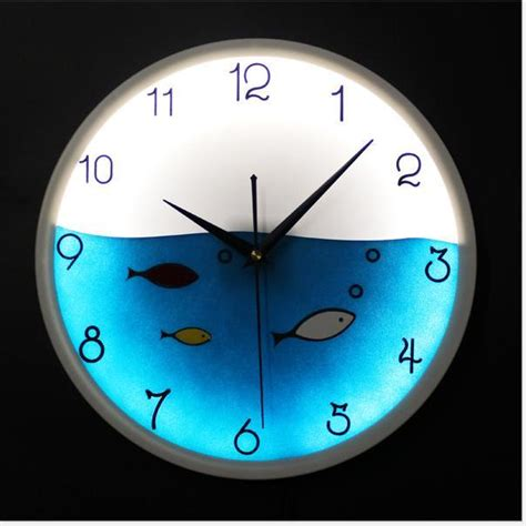 Discount Online Home Decor by 12inch Glowing Wall Clocks Fashion Glow In The Dark Led