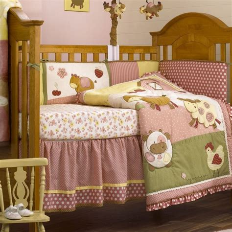 baby barnyard crib bedding cocalo abby s farm crib set