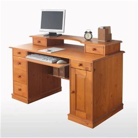 bureau informatique en pin bureau informatique pin massif acheter ce produit au