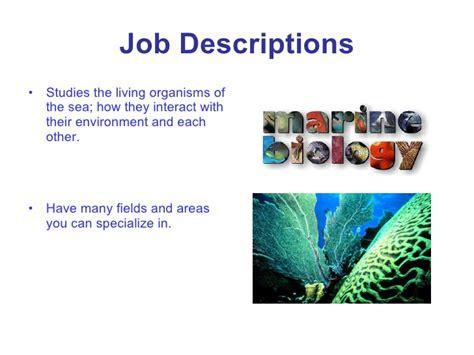 marine biologist description marine biologist