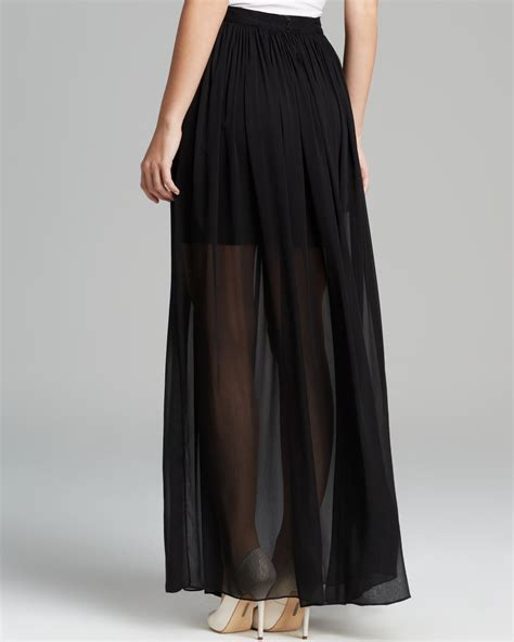 maxi skirt rome sheer in black