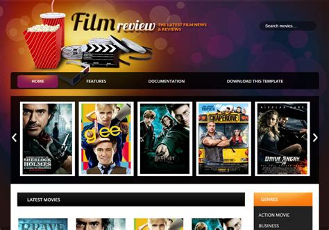 most popular themes in film film reviews movie blogger template blogspot templates 2018