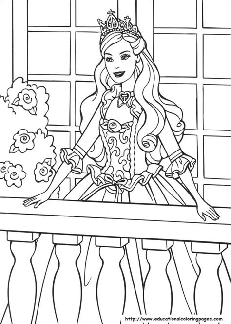 coloring pages of princess barbie barbie princess coloring pages free for kids