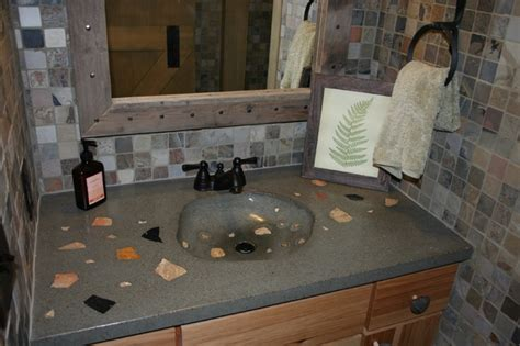Bathroom Concrete Countertops by Concrete Bath Sinks Modern Vanity Tops And Side