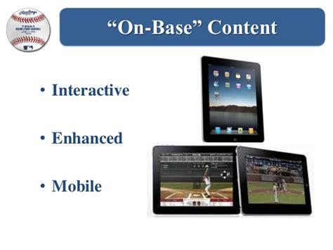 mlb mobile mlb major league baseball mobile presentation