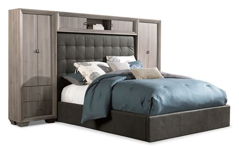 Leons Bedroom Furniture Franklin 5 King Wallbed Taupe S
