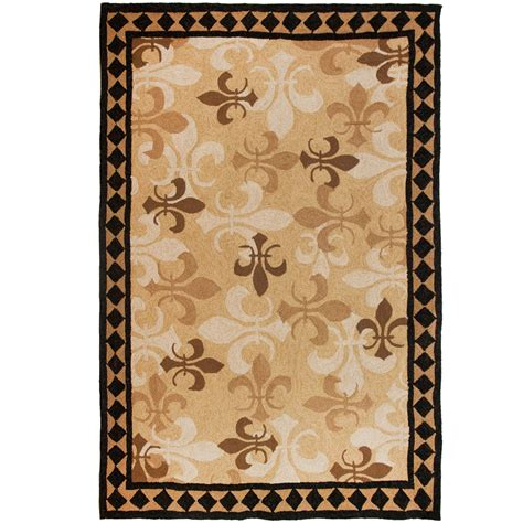 fleur de lis rugs shop homefires fleur de lis outdoor rug runner homefires rugs outdoors dfohome dfohome